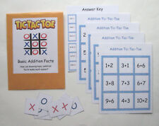 Teacher Made Math Center Resource Game Addition Tic-Tac-Toe Basic Addition Facts