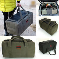 60L Travel Luggage Suitcase Bag Hiking Carry On Bag Canvas Large Army Duffle Bag