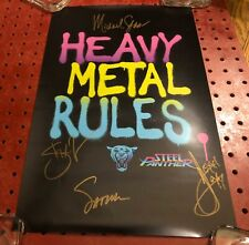 """Steel Panther """"Heavy Metal Rules"""" Band Autographed Chicago 2019 Poster"""