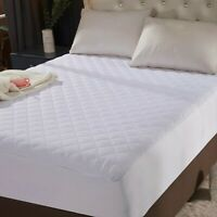 "King Size Quilted Mattress Protector Pad Topper Cover 16"" Deep Fitted Bed Sheet"