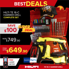 Hilti Te 16-C Drill, Loaded W/ Free Extras, Woodchuck Set,Complete, Fast Shippin