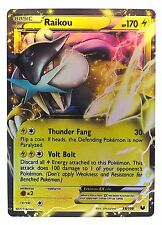 Pokémon Individual Cards EX Raikou 38/108 with Card Sleeve and Box Case