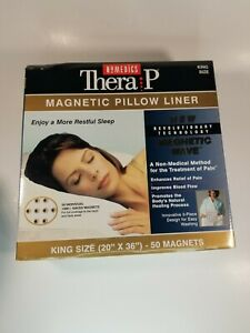 """Therapy Magnetic Pillow Liner with 50 Magnets King Size 20 x 36"""" Homedics NIP"""