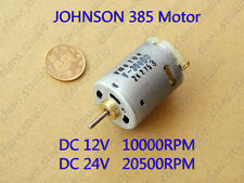 DC12V 24V High Speed Large Torque JOHNSON 385 Motor for Electric tool Hair Dryer