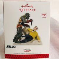 "Hallmark Keepsake  ""Arena"" Star Trek-Captain Kirk-USS Enterprise - 2013,NIB,Read"