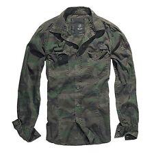 Brandit - SlimFit Camiseta Bosque Camisa Outdoor Camuflaje