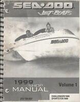 1999 SEA-DOO JET BOATS VOLUME 1,CHALLENGER 1800,SPORTSTER 1800 SHOP MANUAL (449)