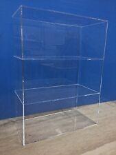 "Acrylic Lucite Countertop Display ShowCase Cabinet 12"" x 8"" x 16""h 2 shelves"