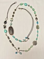 Silpada Designs Necklace N2194. Magnesite, Quartz, Tigers Eye, Shell