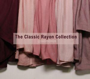 Rayon Hijab Plain Headscarf Lightweight High Quality Premium Maxi Wrap