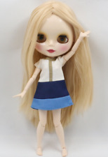 Changing Hair/Eye Color Temp Sensitive Ash Blue/ Purple ICY Blythe doll 1/6 BJD