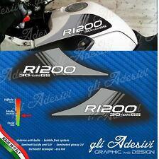 2 Adesivi Fianco Serbatoio Moto BMW R 1200 gs Motorrad 2004 2008 30 years Dark