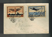 1921 Poznan Poland Airmail Special Issues Cover to Lodz