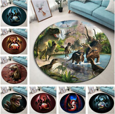 Dinosaur Dragon Design Round Floor Mat Kids Bedroom Carpet Living Room Area Rugs