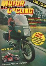 MotorCycling 1979 - BMW R100RT Yamaha DT100 Mick Grant Honda NR500 GP Fantic 50