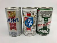 Lot of 3 Vintage Heileman's Beer Cans - SS Pull Tab - Light - Special Export