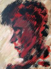 Felix Samuel Pfefferkorn *1945: Kopf im Profil, Acryl 40 x 30 cm WVZ-III-37 1970
