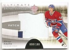 11/12 UD ULTIMATE COLLECTION DEBUT THREADS PATCH #DTAY Alexei Emelin #58/100 2CL