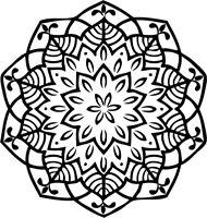 Printtoo Crafting Card machen Runde hoelzerne Stempel Floral Mandala-2Iu