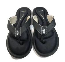 Nike Comfort Footbed Thong Sandals Flip Flops Black Sandals Women's Size 9