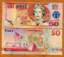 FIJI, $50, ND (2002), P-108, QEII, UNC --> OVD