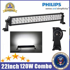 Philips 22inch 120W LED WORK LIGHT BAR SPOT/FLOOD COMBO TRUCK OFFROAD 20/24 32""