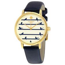 Kate Spade Metro Bird on Wire Navy on Gold Dial Ladies Watch KSW1022