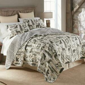 Donna Sharp Forest Weave Quilt Collection Rustic Lodge Bear Wildlife Reversible