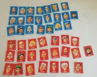 Guess Who? 2000 Set of Spare/Replacement Character Cards Red+Blue (4 missing)