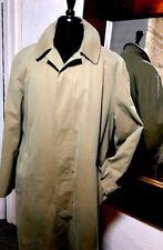 Paul Stuart England Men's Trench Coat 40 L Tan Zip Out Wool Liner
