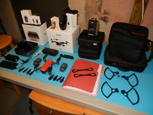 DJI Spark Drone Fly More Combo Lava Red Used but Excellent Condition with Extras