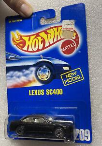 🔥1991 Lexus SC400 Luxury Car Hot Wheels 1993-209 Blue Card~New Model! Nib