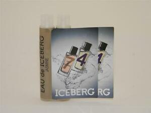 Eau De Iceberg Jasmin EDT Pour Femme 1,2ml 0.04oz Vial Sample (Lot of 2)