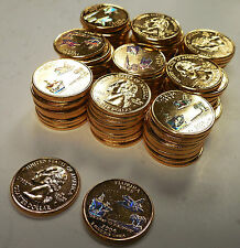 2004 FLORIDA GOLD STATE QUARTERS W/ HOLOGRAM~100 PIECES~SPACE SHUTTLE