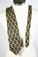 Vintage Bill Blass Black Label 1005 Silk Green Gold Blue Neck Tie necktie