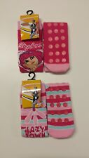 Girls Lazy Town Slipper Socks with Grip UK 9-12 Single or LOT of 4 Pairs