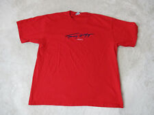 VINTAGE Tommy Hilfiger Shirt Adult 2XL XXL Red Navy Blue Spell Out Signature 90s