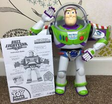 """THINKWAY TOYS SPEAKING BUZZ LIGHTYEAR WITH UTILITY / GRAVITY BELT 12"""" TALL RARE"""