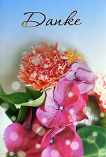 6 Danksagungskarten Geburtstag Hochzeit Danksagung Neutral Klappkarte Karte