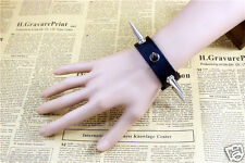 New Punk Rock Gothic Hot Style Cosplay Leather Bracelet w/Rivet Studs Wristband