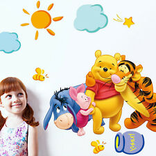 Decor The Pooh Wall Decals Kids Bedroom& Baby Nursery Stickers Winnie
