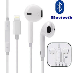 Wired Bluetooth Earphone Earbuds Headset For iPhone X 8 7 Plus w/ Mic & Volume