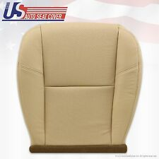 2007 - 2011 Escalade Left Front Bottom Leather Seat Cover Ebony Tan 394