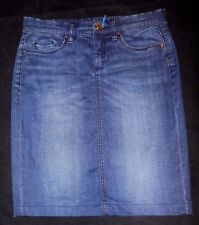 BLANKNYC Women US: 2 4 6 8 EU: 27 Knee Length Pencil Stretch Denim Jean Skirt