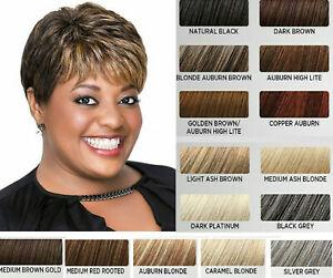 LUXHAIR  Lux Hair by Sherri Shepherd Textured Pixie BOB Wig, Copper Auburn,