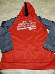 Boys XX LARGE Team Athletics Ohio State Buckeyes Red And Grey Pullover Hoodie
