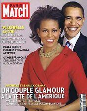 COUVERTURE DE MAGAZINE PARIS MATCH 3104 15/11/2008 MICHELE & BARAK OBAMA