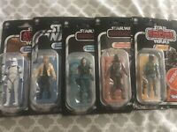 Star Wars The Vintage Collection Kenner 5 Figure Lot The Mandolorian, Boba Fett