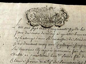 1756 ANTIQUE MANUSCRIPT