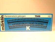 MARKLIN 7569 elemento viadotto K  r=424,6mm HO NUOVO.